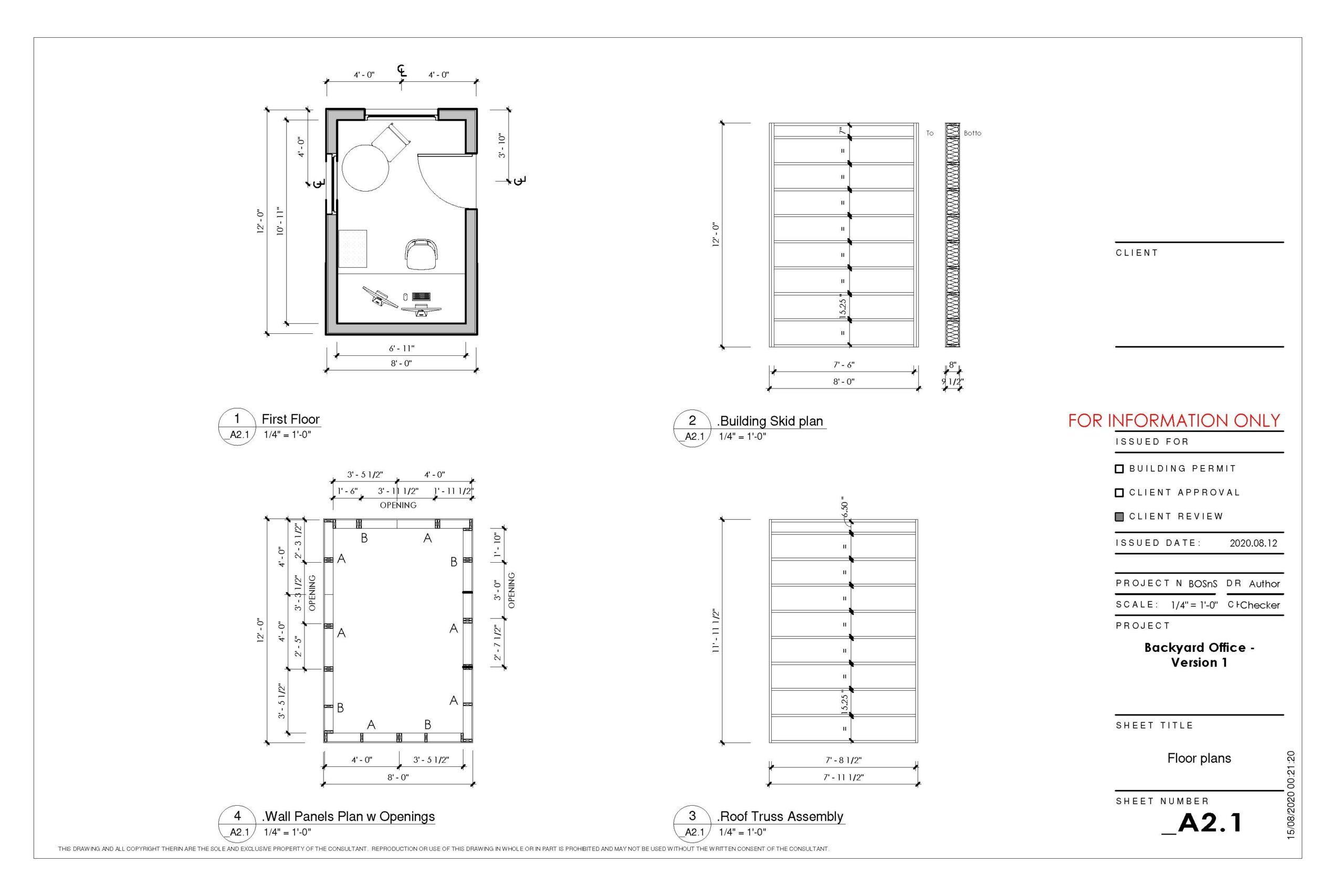 Backyard office 8x12 v1 Page 1 scaled Backyard Offices, Studios and Sheds - Creating new spaces