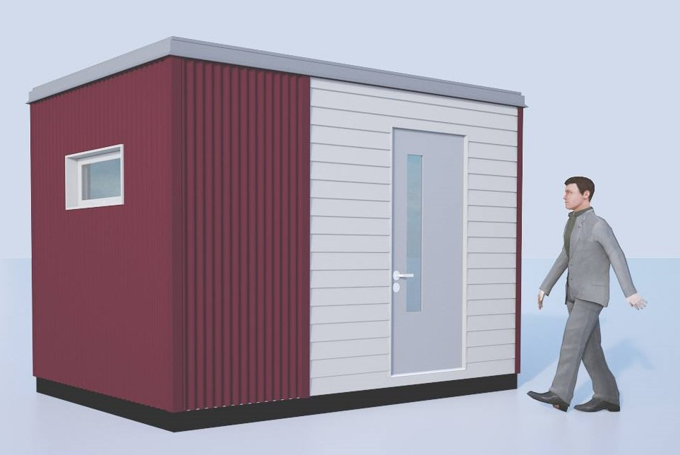 Annex Dark Red white Crop Backyard Offices, Studios and Sheds - Creating new spaces