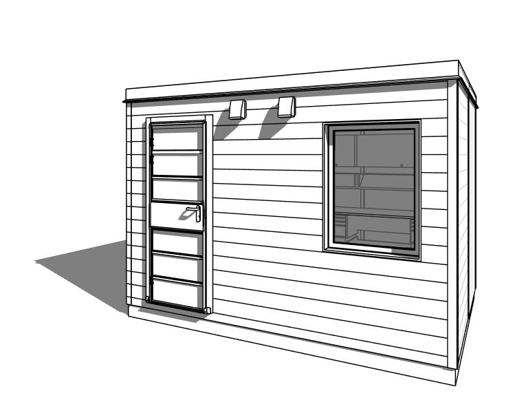 Modular Prefabricated Backyard Workshop Shed
