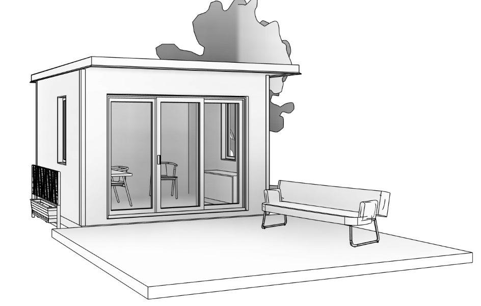 Modular Prefabricated Backyard Studio