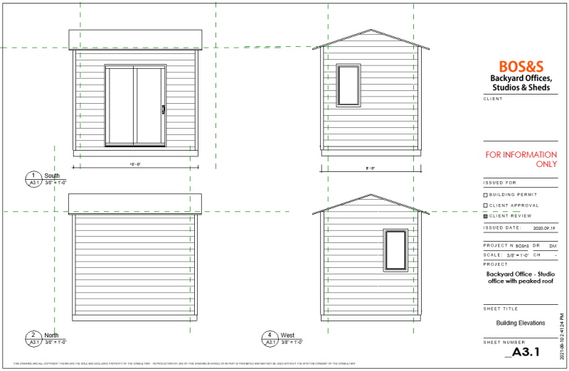 8x10 patio peaked roof layout