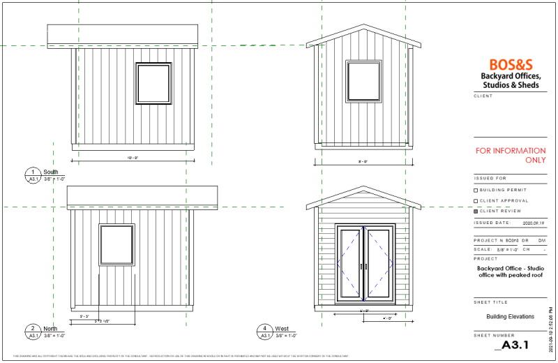 8x10 studio with French garden doors